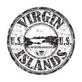 Sello de United States Virgin Islands Imagenes de archivo