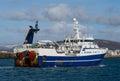 Seltjarnarnes harbour fishing vessel iceland near reykjavik Royalty Free Stock Images