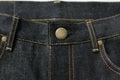 Selvedge denim jeans closeups photo from close range Royalty Free Stock Image