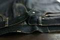 Selvedge denim jeans closeups photo from close range Stock Images