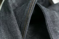 Selvedge denim jeans closeups photo from close range Royalty Free Stock Images