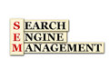Sem conceptual searh engine management acronym on white Royalty Free Stock Photography