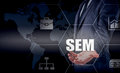 SEM-Search Engine Marketing. Business Strategy Concept