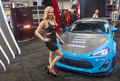 Sema car show las vegas nov model near a sport at the in las vegas navada on november the is the premier automotive Stock Photos