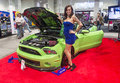 Sema car show las vegas nov model near a sport at the in las vegas navada on november the is the premier automotive Royalty Free Stock Photo
