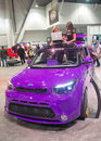 Sema show las vegas nov the kia booth at the in las vegas navada on november the is the premier automotive specialty Stock Images