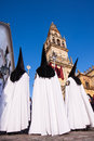 Semana Santa (Holy Week) in Cordoba, Spain. Royalty Free Stock Photo