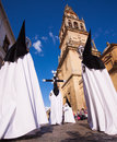 Semana Santa (Holy Week) in Cordoba, Spain. Stock Images