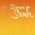 Semana Santa - Holy Week spanish text Royalty Free Stock Photo