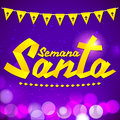 Semana Santa - Holy Week spanish text Royalty Free Stock Photo