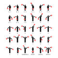Semaphore flag signals alphabet and numbers Royalty Free Stock Images