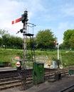 Semaphore signals Royalty Free Stock Photo