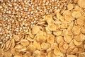 Sementes e corn-flakes do milho Imagem de Stock Royalty Free