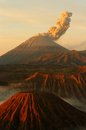Semeru volcanos mount and mount bromo in east java indonesia Stock Photos