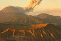Semeru volcanos mount and mount bromo in east java indonesia Stock Photos