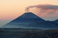 Semeru volcanos mount and mount bromo in east java indonesia Royalty Free Stock Images