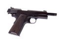 Semi auto vintage automatic pistol Stock Images