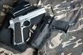 Semi-automatic guns Royalty Free Stock Photo