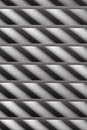 Semi-closed metallic blinds Royalty Free Stock Photography