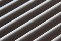 Semi-closed metallic blinds Royalty Free Stock Image