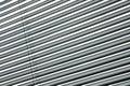 Semi-closed metallische Vorhänge Stockbild