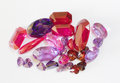 Semi-precious faceted stones Royalty Free Stock Photo