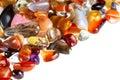 Image : Semi-precious gems polished isolated stone