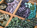 Semi precious gemstone beads Royalty Free Stock Image