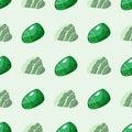 Semi precious gemstones seamless pattern mineral stone dice colorful background shiny crystalline vector illustration