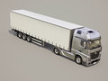 Semi trailer truck a modern on gray background Royalty Free Stock Image