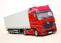 Semi trailer truck a modern on light background Royalty Free Stock Photos
