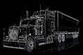 Semi truck illustration Royalty Free Stock Photo