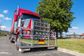 Semi truck parked on side road in rural town, Australia. Royalty Free Stock Photo