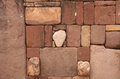 Semi underground temple semisubterraneo with many heads tiwanaku bolivia Royalty Free Stock Photo