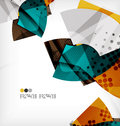 Semicircle geometric vector abstract background composition with place for text Stock Photography