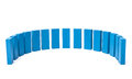 Semicircle out of blue blocks all on white background Royalty Free Stock Photo