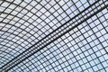 Semicircular glass roof on a metal frame as a background or a backdrop Royalty Free Stock Photo