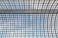 Semicircular glass transparent roof on a metal frame as a background or a backdrop Royalty Free Stock Photo