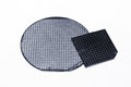 Semiconductor wafer close up view Stock Photo