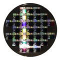 a Semiconductor wafer disk Royalty Free Stock Photo