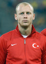 Semih kaya in romania turkey world cup qualifier game s pictured before between and held on national arena from bucharest Royalty Free Stock Photo