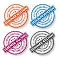 Seminar booking papper labels colored paper german text buchen and jetzt weiterbilden translate and improve oneself now eps file Royalty Free Stock Image