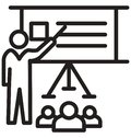 seminar, training line isolated vector icon can be easily modified and edit