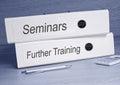 Seminars and Further Training Binders Royalty Free Stock Photo