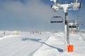 Semmering ski lift Royalty Free Stock Photo