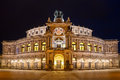 Semper Opera House (Semperoper) by night, Dresden Royalty Free Stock Photo