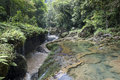 Semuc champey waterfals area in guatemala middle america Stock Photo