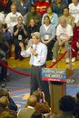 Senator john kerry addresses audience of supporters at a southern ohio high school gymnasium in Royalty Free Stock Photo