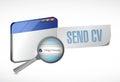 Send Cv Online Illustration De...