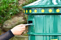 Send letter in mailbox Royalty Free Stock Photo